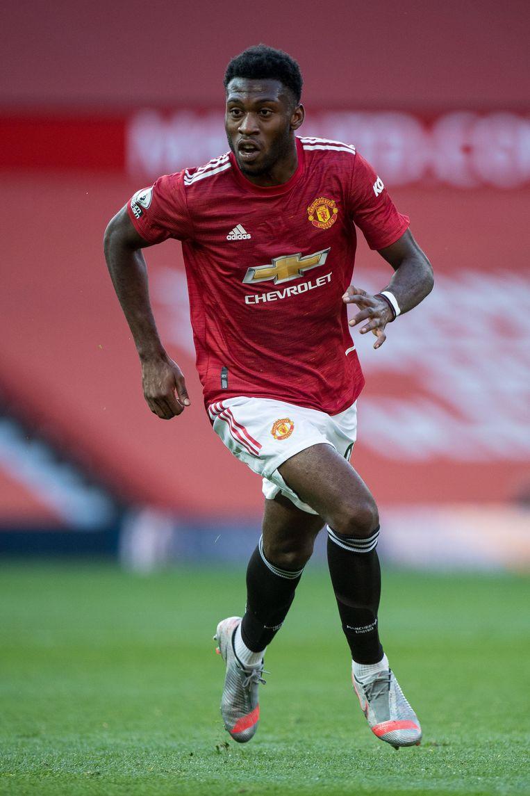 Voetballer Timothy Fosu-Mensah tijdens de Premier League-wedstrijd Manchester United - Crystal Palace. Beeld Getty Images