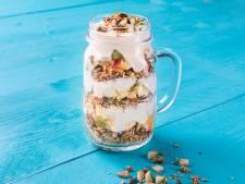 Wat Eten We Vandaag: Yoghurt met zelfgemaakte perengranola