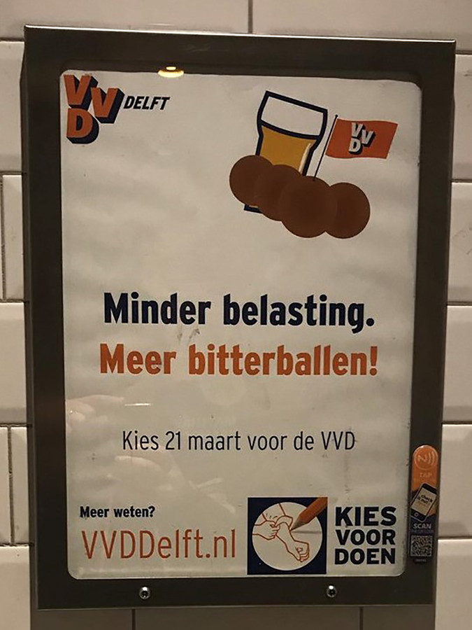Met deze slogan bemachtigde VVD Delft de tweede plaats.