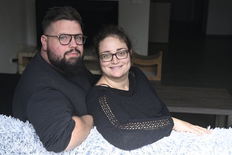 Byron Caron (28) en Samantha Battistini (27) uit Houthalen Beeld Photo News