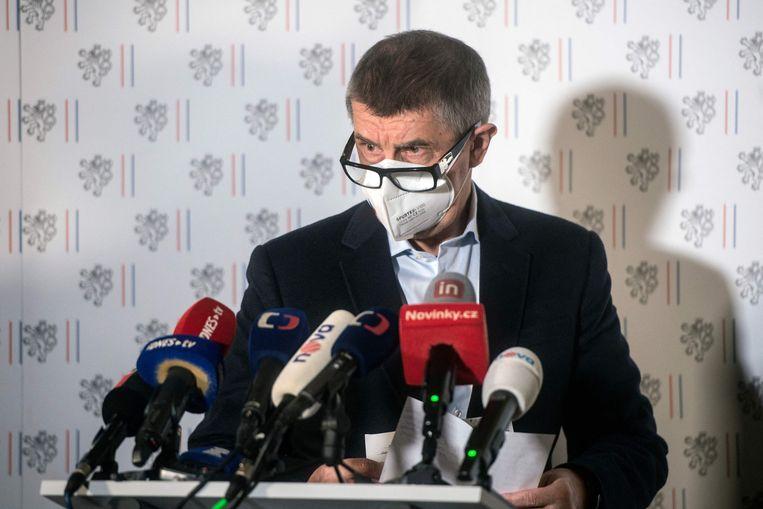 'Achttien werknemers van de Russische ambassade moeten onze republiek binnen de 48 uur verlaten', zei minister Jan Hamacek. Beeld AFP