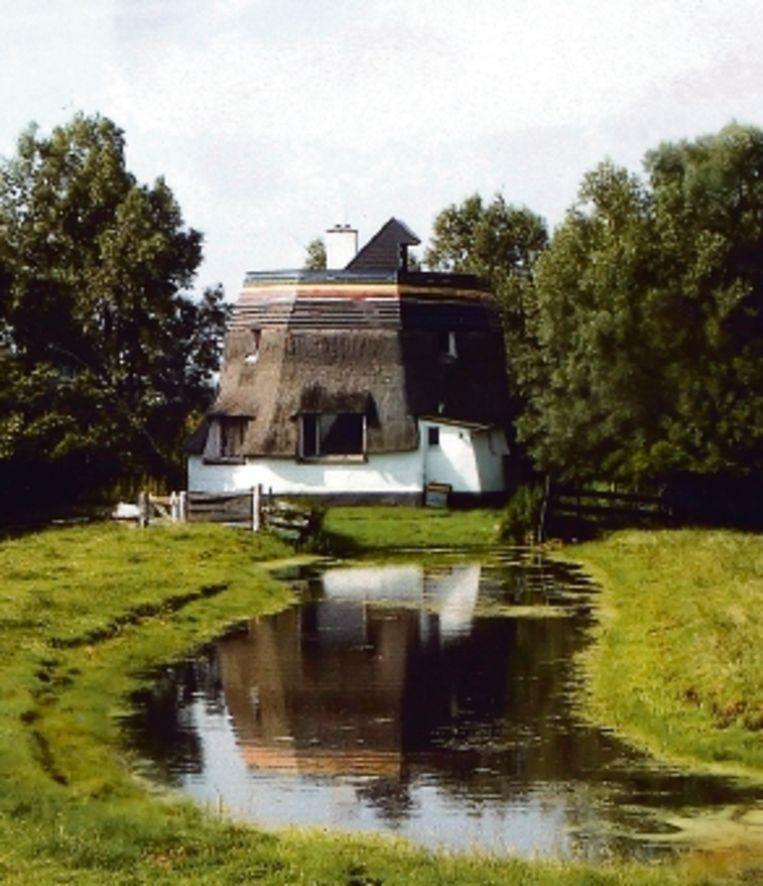 Afgeknotte molen Zoetermeer. (Foto: B. Koopmans) Beeld