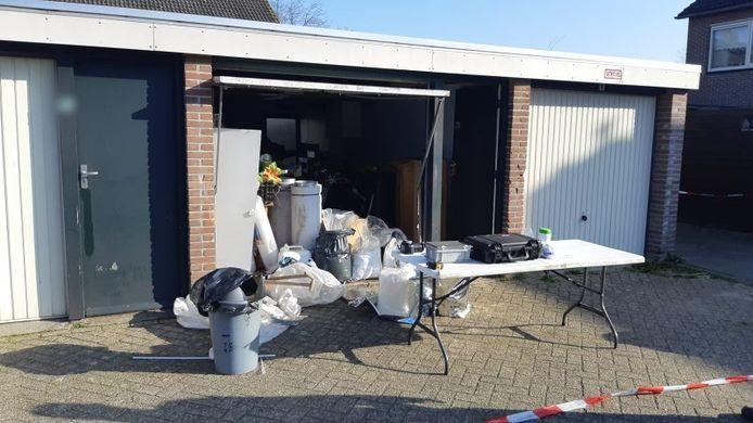 Methlab gevonden in garagebox Oudenbosch.