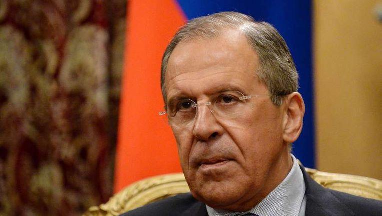 de Russische minister van Buitenlandse Zaken Sergej Lavrov Beeld afp