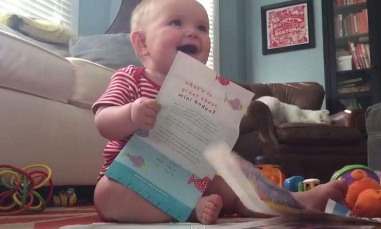 Baby heeft de grootste lol!