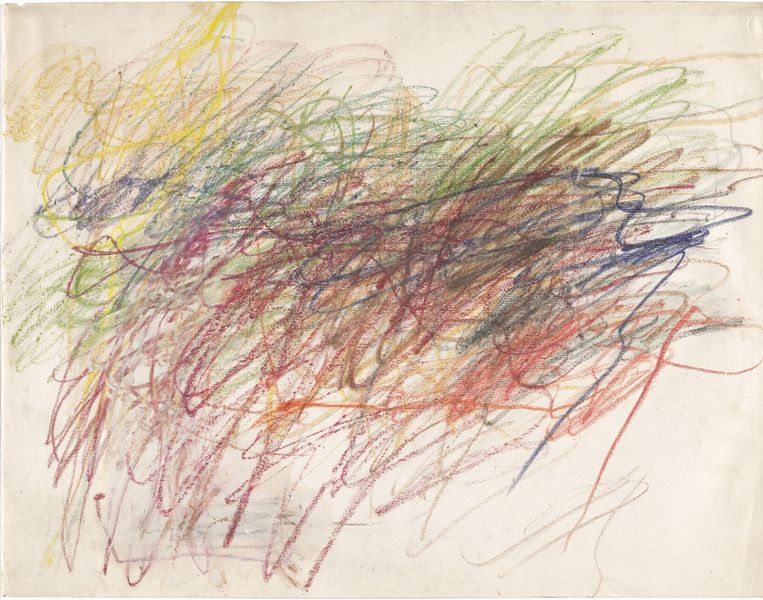 Cy Twombly, zonder titel, 196. Collectie MoMa New York/ Twombly Foundation Beeld