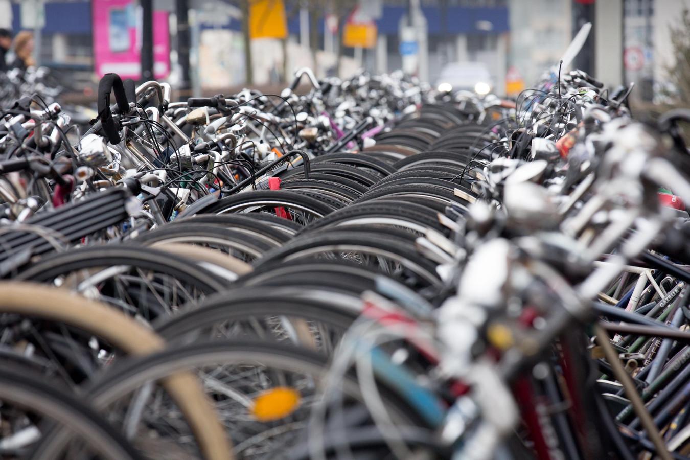 Een fietsenstalling in Nijmegen.