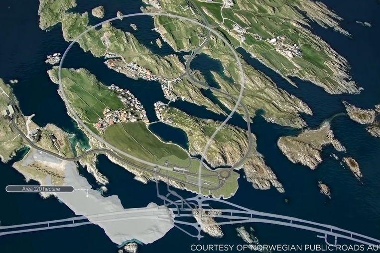 Noorse kustweg. Beeld Norwegian Public Roads Administration