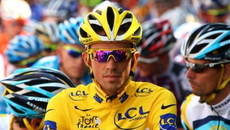 Alberto Contador won zijn tweede Tour. Beeld UNKNOWN