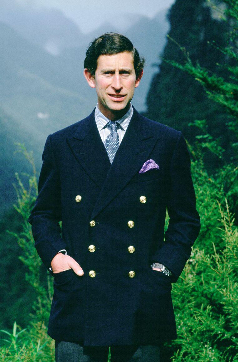 Charles (hier in 1981 in Nieuw-Zeeland) liet zich inspireren door de kledingstijl van zijn oom, de Duke of Windsor.     Beeld Getty Images