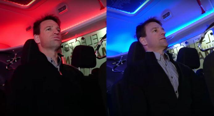 Rood en blauw geven twee verschillende ervaringen, claimt Ford.