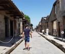 Simon Mignolet s'est offert une escapade à Pompéi et au Vésuve, près de Naples.