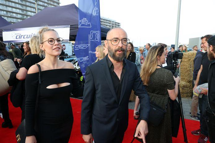 Eline De Munck en Michaël R Roskam, met wie ze sinds een tijdje een koppel vormt.