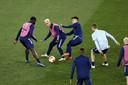 De laatste training van Ajax voor de return tegen AS Roma.
