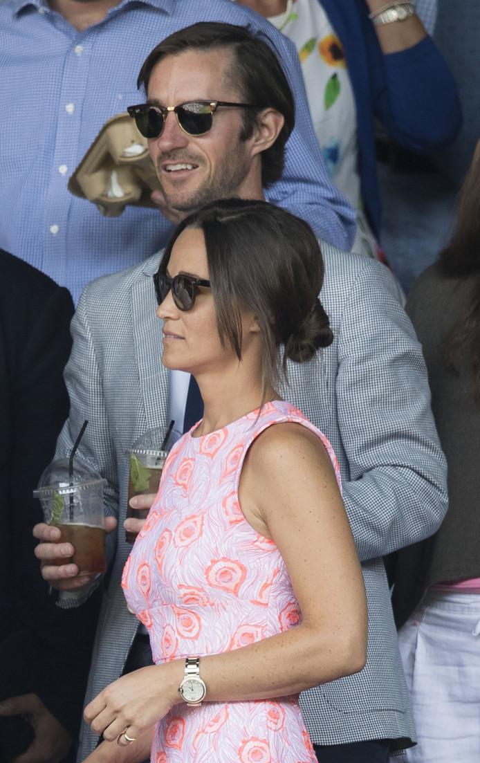 Pippa en James laten zich niet vaak samen in het openbaar zien. Deze foto werd gemaakt tijdens Wimbledon 2016.