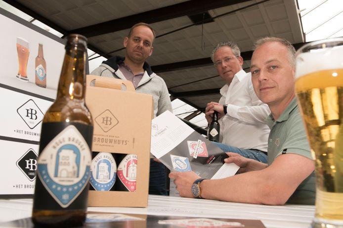 'Bierbrouwers' ondernemers Ernst Admiraal, Marcel Schipper en Bert van den Brink.
