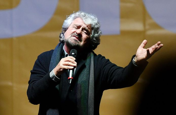 Beppe Grillo, le fondateur du Mouvement 5 Etoiles (M5S), en 2016.
