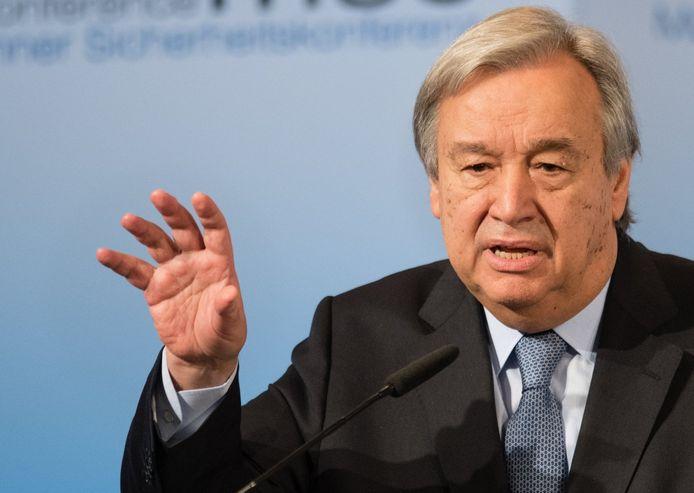 Secretaris-generaal van de VN Antonio Guterres.