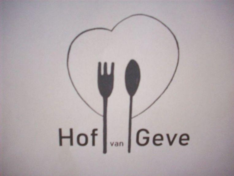 Het nieuwe logo en de naam van de voedselbedeling in Oostrozebeke: Hof van Geve.