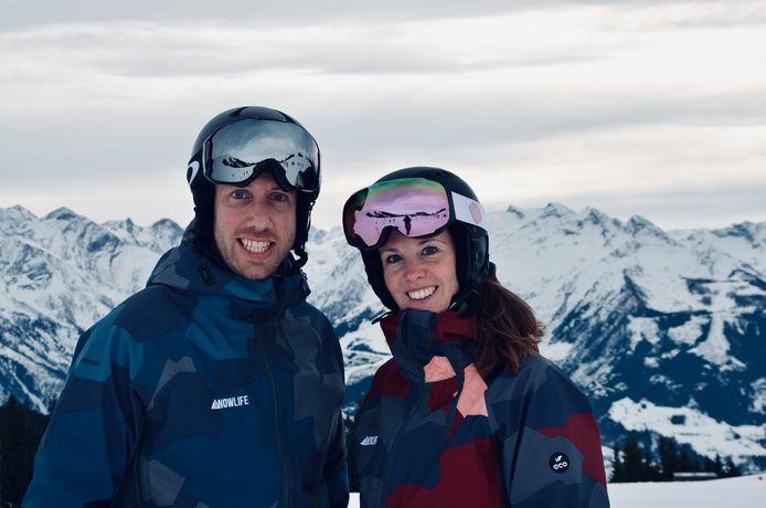 Yuri Bartels en Monique van Bakel van Snowlife in Rosmalen leiden skileraren op voor de pistes in Oostenrijk.