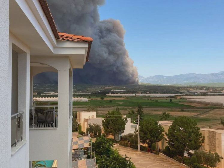 Apeldoorners op de vlucht voor bosbranden in Turkije