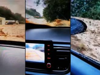 Moeder en zoon (14) gevangen in auto terwijl overstromingen stevig toeslaan in Dinant
