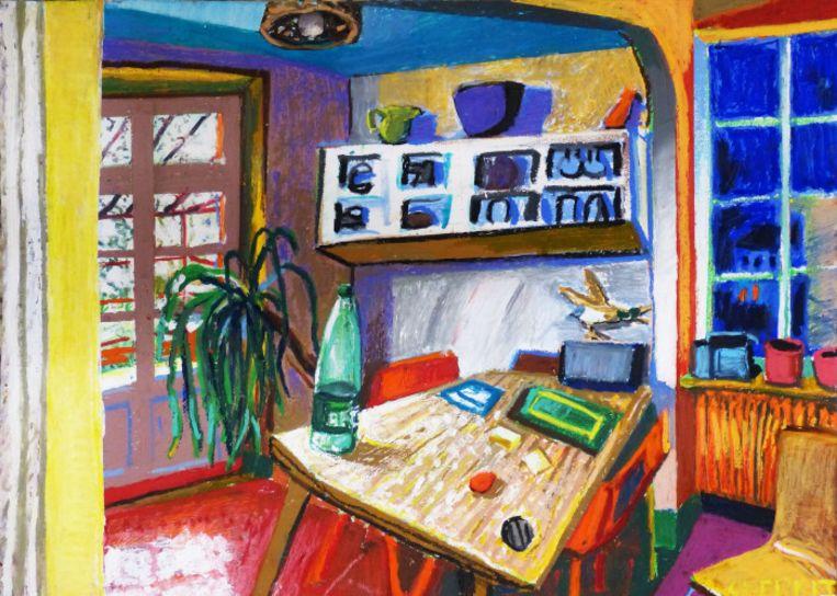 Mathieu Cherkit: Perma-Peinture, t/m 5 juni in Gallery Albada Jelgersma. Beeld Mathieu Cherkit