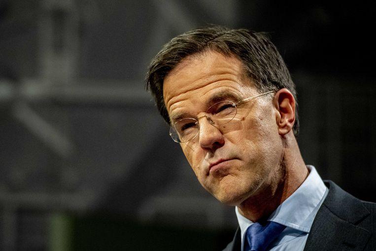 2019-12-20 16:07:29 DEN HAAG - Premier Mark Rutte geeft een persconferentie na afloop van de wekelijkse ministerraad. ANP ROBIN UTRECHT Beeld ANP