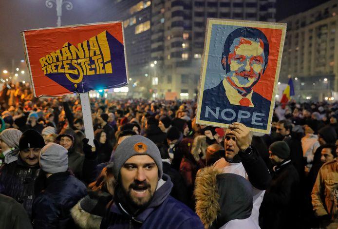 Protesten in de Roemeense hoofdstad Boekarest