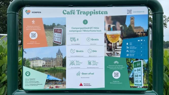 Campers kunnen halt houden aan Café Trappisten en 83 andere gastvrije plekken in de provincie