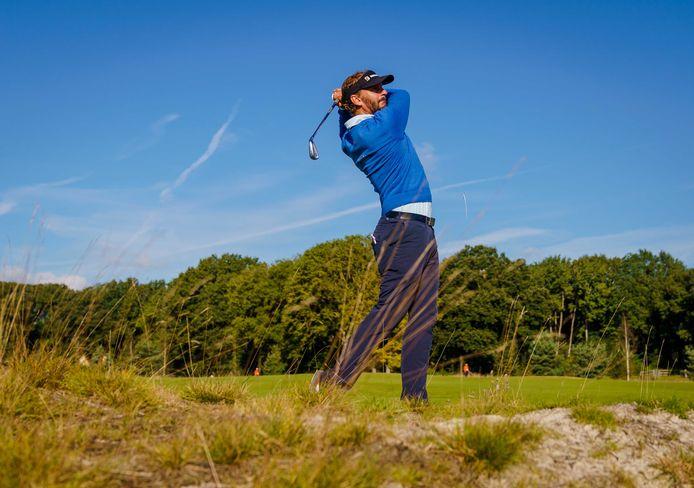 Joost Luiten in actie op de eerste dag van het Dutch Open.