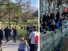 """Les parcs parisiens bondés, indignation en France: """"Totalement irresponsable"""""""