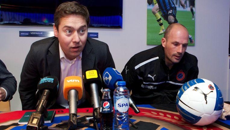 Vincent Mannaert naast Philippe Clement. Beeld BELGA