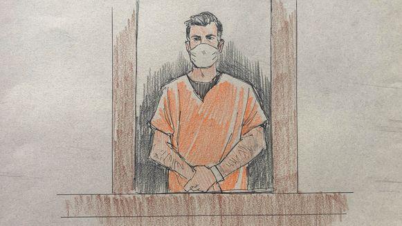 Thomas Lane bij zijn voorleiding in de rechtbank.
