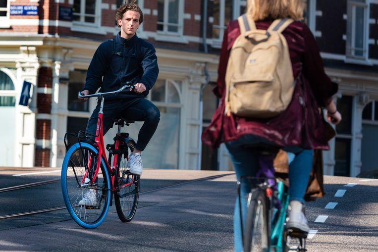 Klanten van Swapfiets betalen een maandelijks bedrag voor hun fiets waarbij onderhoud is inbegrepen. Beeld ANP