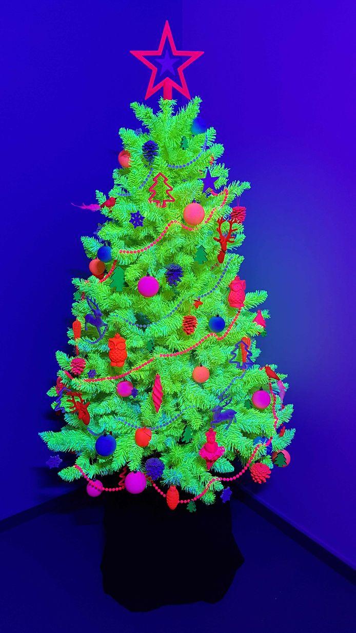 De neon kerstboom.