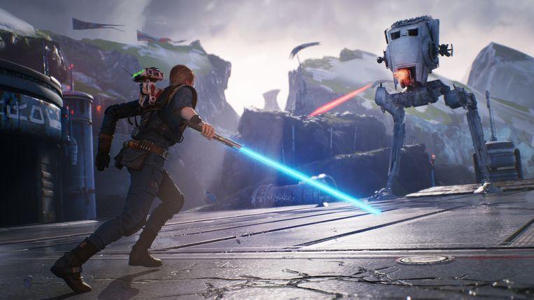 Met 'Jedi: Fallen Order' krijgen spelers eindelijk een gloednieuw 'Star Wars'-verhaal voorgeschoteld. Beeld EA