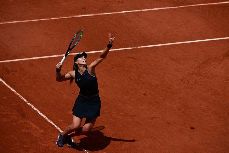 De Spaanse Paula Badosa speelt dinsdag in de kwartfinales tegen Tamara Zidansek. Beeld AFP