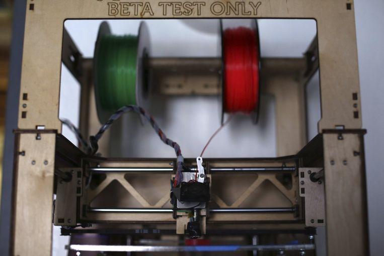 Een 3D-printer in een technologiewinkel in San Francisco. Beeld reuters