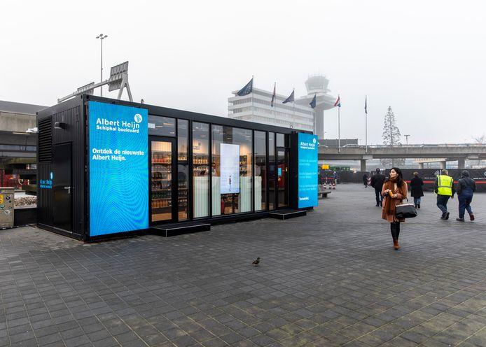 De robotsupermarkt op Schiphol.