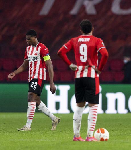 Dumfries is kapot van late uitschakeling PSV in Europa League: 'Dit doet enorm veel pijn'