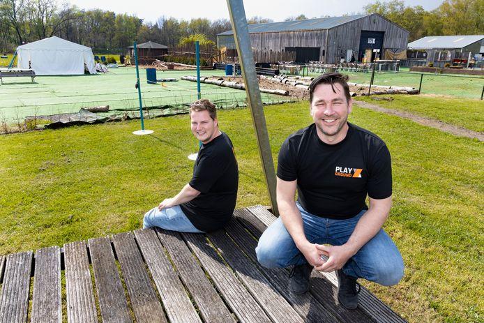 Roel Seijkens (links) en Ronald van Bussel van Playground X in Liessel