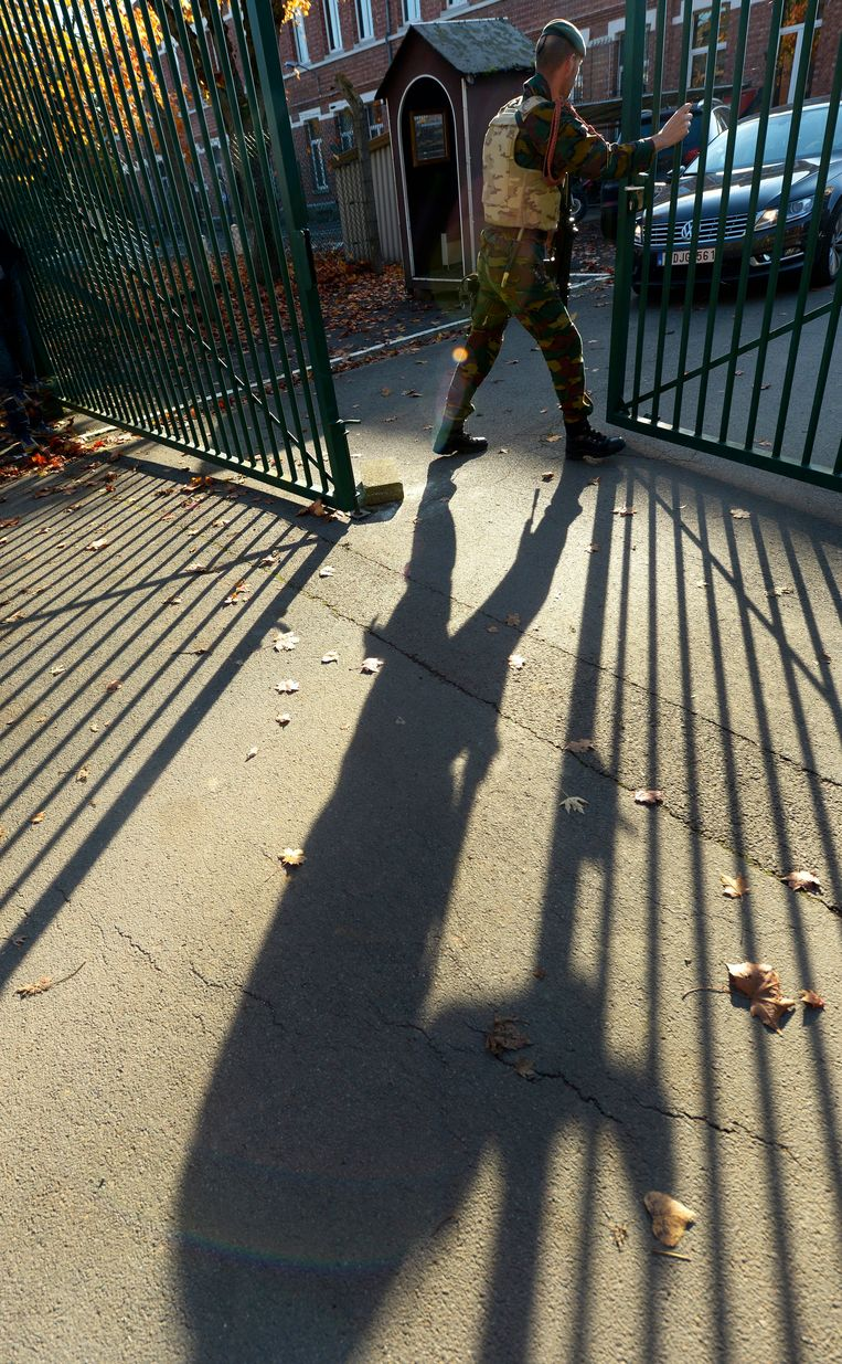 De paracommandokazerne van Flawinne.  Beeld Photo News
