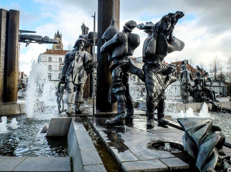 Dit waren de beelden aan de fontein.