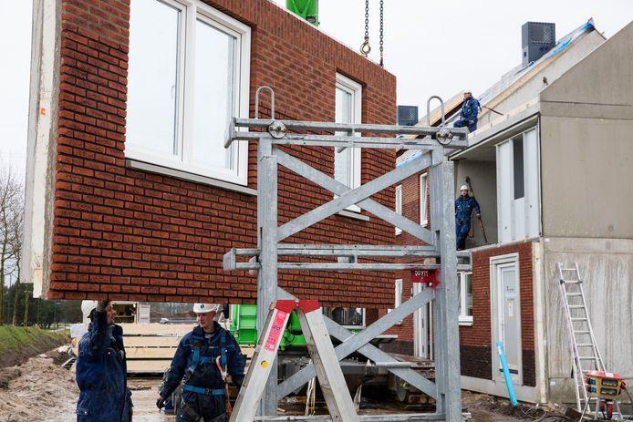 Woningbouw in de wijk Brandevoort in Helmond. Archieffoto