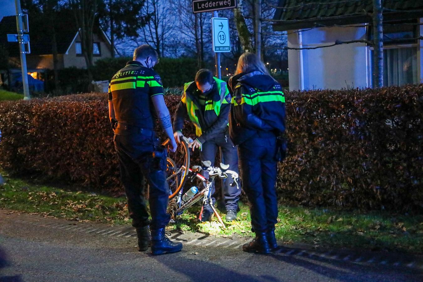 De fiets raakte flink beschadigd