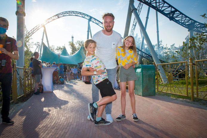 Ben Roelants en kinderen Otis en Estelle