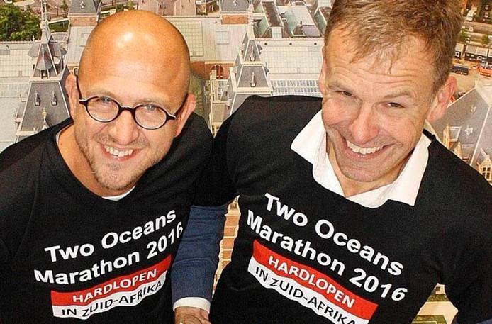 De marathon van Marco van Leeuwen en Ed Kooijman gaat door de hele Bommelerwaard.