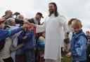 """Vissarion, de Siberische """"Jezus"""" in 2009."""