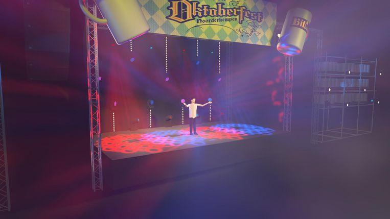 Op dit podium zal Willy Sommers het beste van zichzelf geven.